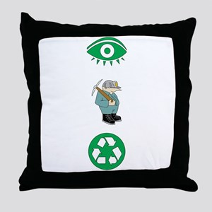 I Dig Recycling Throw Pillow