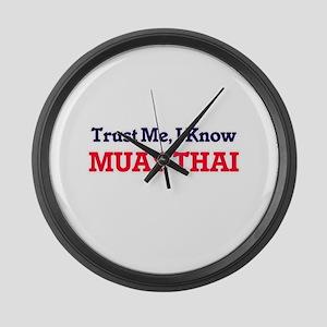 Trust Me, I know Muay Thai Large Wall Clock