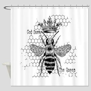 Queen Bee III Shower Curtain