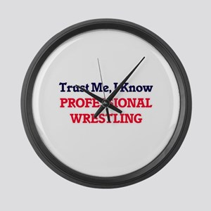 Trust Me, I know Professional Wre Large Wall Clock