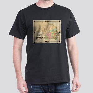 Vintage Map of Iowa (1845) T-Shirt