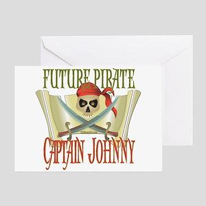 Captain Johnny Greeting Card
