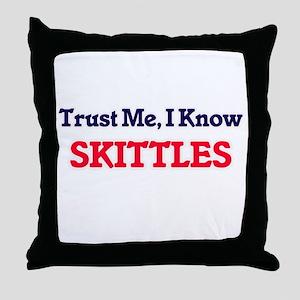 Trust Me, I know Skittles Throw Pillow
