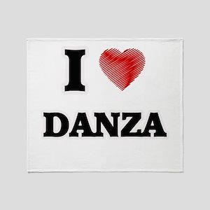 I Love Danza Throw Blanket