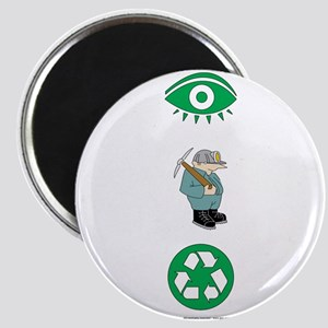I Dig Recycling Magnet