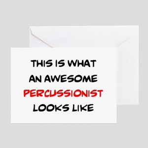 awesome percussionist Greeting Card