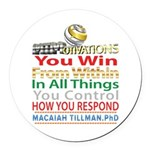 YouWin Round Car Magnet