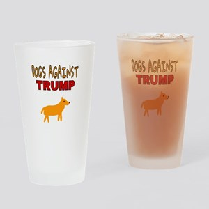 DOGS AGAINST TRUMP Drinking Glass
