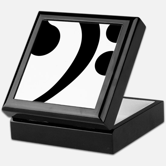 Unique Bass clef Keepsake Box