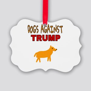 DOGS AGAINST TRUMP Picture Ornament