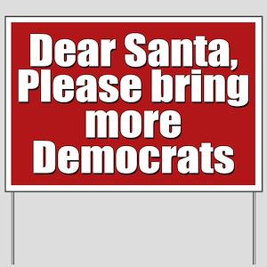 Dear Santa Yard Sign