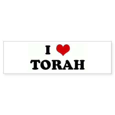 I Love TORAH Bumper Sticker