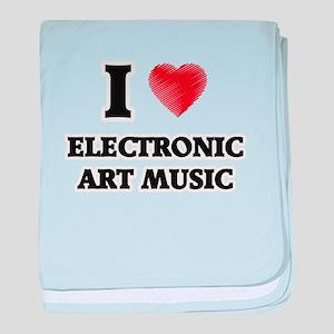 I Love Electronic Art Music baby blanket