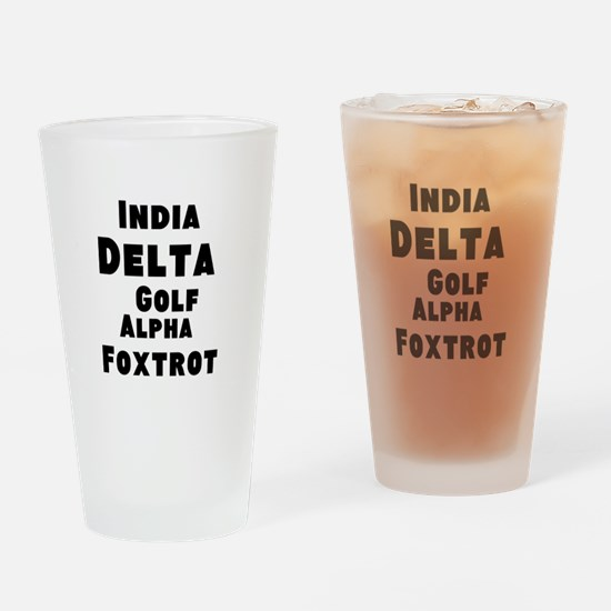 Idgaf Drinking Glass