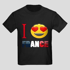 I love France Kids Dark T-Shirt