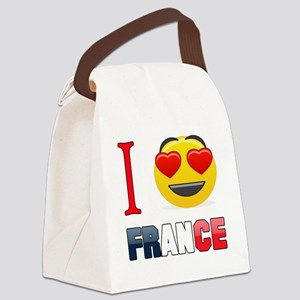 I love France Canvas Lunch Bag