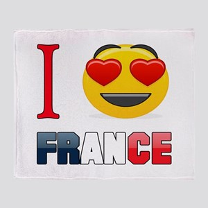I love France Throw Blanket
