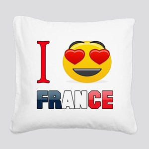 I love France Square Canvas Pillow