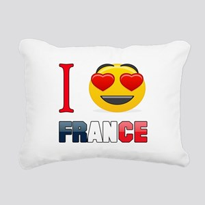 I love France Rectangular Canvas Pillow