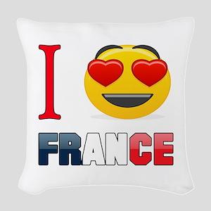 I love France Woven Throw Pillow