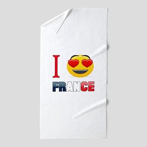 I love France Beach Towel