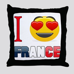 I love France Throw Pillow