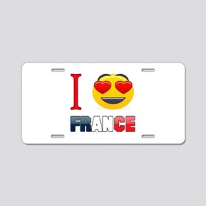 I love France Aluminum License Plate