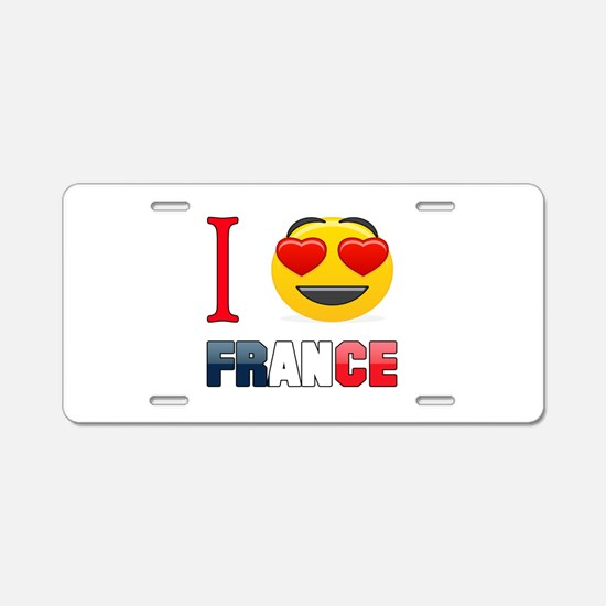 I love France Aluminum License Plate