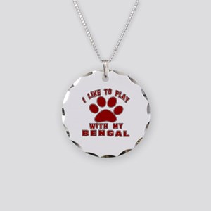 I Like Play With My Bengal C Necklace Circle Charm