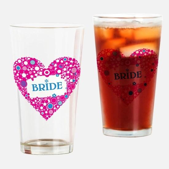 BRIDE HEART Drinking Glass