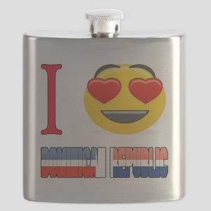 I love Dominican Republic Flask