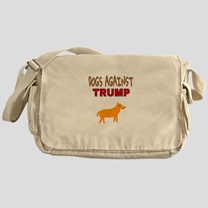 DOGS AGAINST TRUMP Messenger Bag