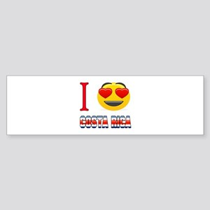 I love Costa Rica Sticker (Bumper)