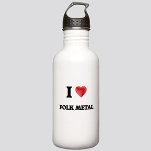 I Love Folk Metal Stainless Water Bottle 1.0L