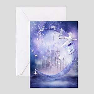 Fairytale Moon Castle Greeting Card