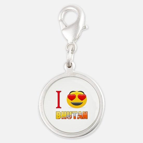 I love Bhutan Silver Round Charm