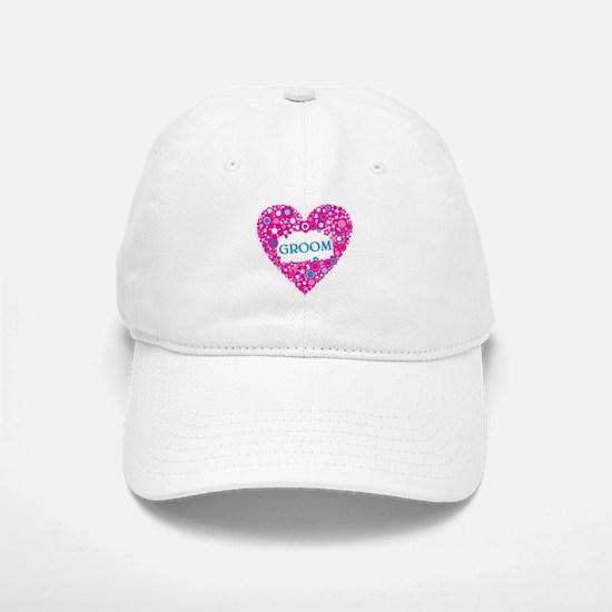 GROOM HEART Baseball Baseball Cap