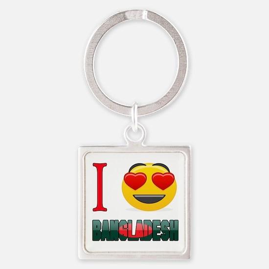 I love Bangladesh Square Keychain