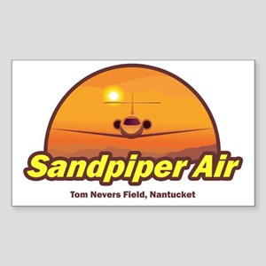 Sandpiper Air Rectangle Sticker