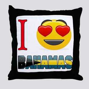 I love Bahamas Throw Pillow