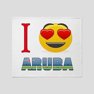 I love Aruba Throw Blanket
