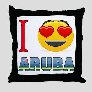 I love Aruba Throw Pillow