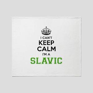 Slavic I cant keeep calm Throw Blanket