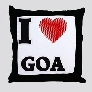 I Love Goa Throw Pillow