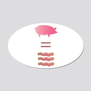 Pig = Bacon Wall Decal