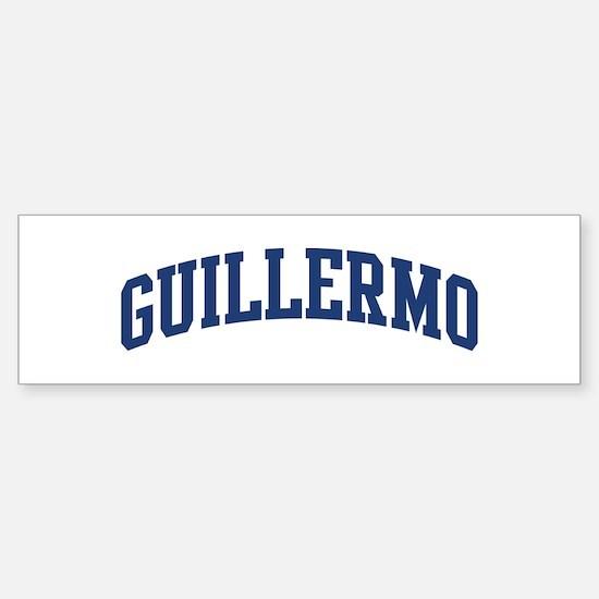 GUILLERMO design (blue) Bumper Bumper Bumper Sticker