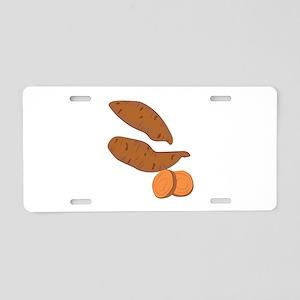 Sweet Potatoes Aluminum License Plate