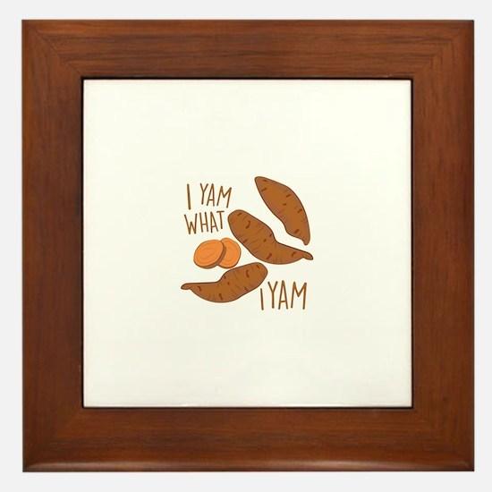 I Yam Framed Tile