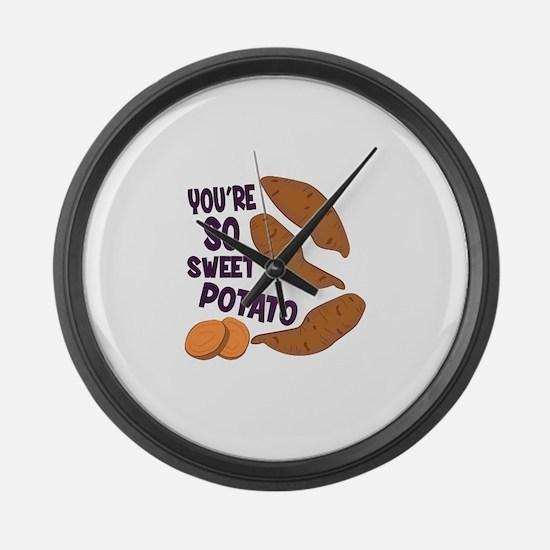 So Sweet Potato Large Wall Clock