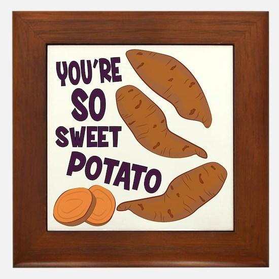 So Sweet Potato Framed Tile